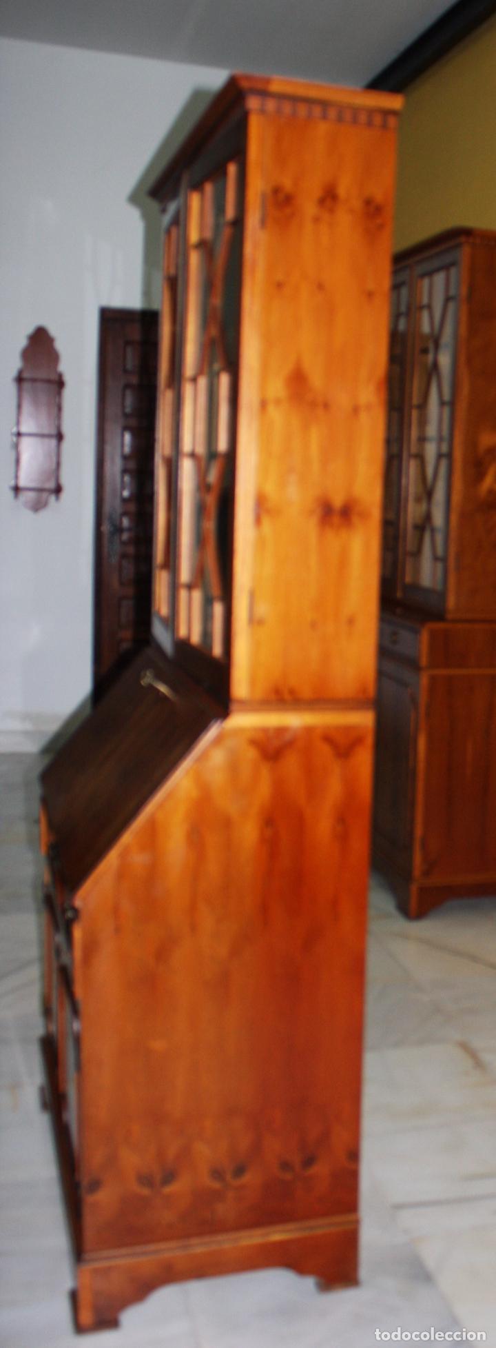 vitrinabiblioteca secreter inglesa ref 6068  Comprar Vitrinas Antiguas en todocoleccion  98402595