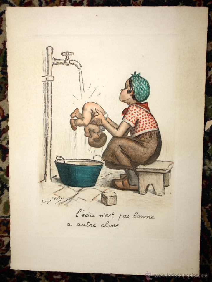 Ce N'est Que De L'eau : n'est, l'eau, Georges, Redon, (1869-1943), Grabado, Titulado, Contemporary, Drawings, Century, Todocoleccion, 47221268