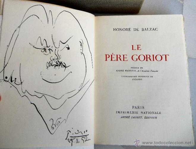 balzac - le père goriot (sauret 1952). 2 litogr - Comprar ...