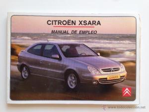 Manual instrucciones usuario citroen xsara 2002  Vendido