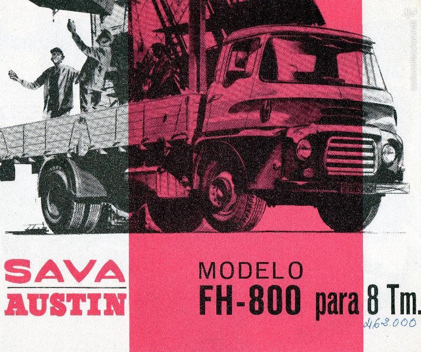 Coches y Motocicletas: SAVA AUSTIN BMC FH 800 - CAMION CATALOGO PUBLICIDAD ORIGINAL AÑO 1965 EN ESPAÑOL - Foto 1 - 57353150
