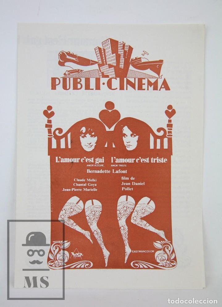 L'amour C'est Gai L'amour C'est Triste : l'amour, c'est, triste, Guía, Publicitaria, Publi-cinema, L'amour, C'est, Comprar, Guías, Publicitarias, Películas, Todocoleccion, 126362519