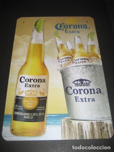 cartel chapa cerveza corona