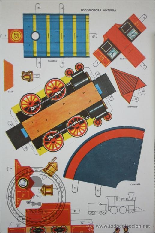 libro de recortables trenes locomotoras y vago  Comprar