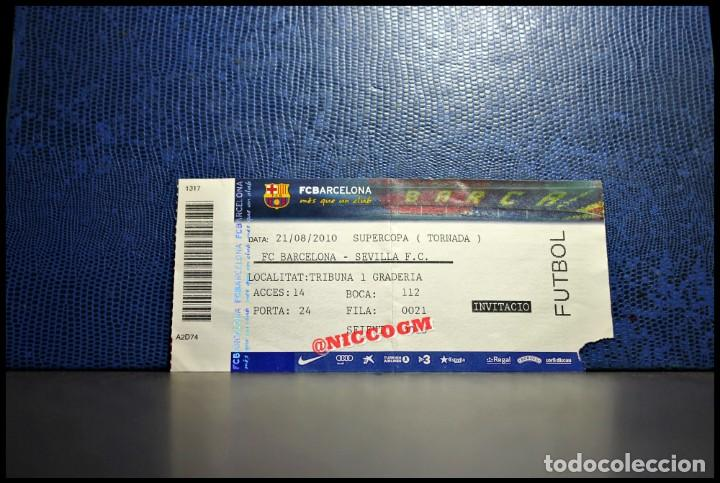 entrada ticket pase fc barcelona vs sevilla fc - Comprar Entradas de Fútbol Antiguas en todocoleccion - 206521045