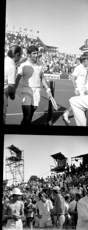 El interior de la copa davis está bañado con plata y oro y tiene grabada la frase international lawn tennis challenge trophy. tenis - copa davis - 1970 - 60 negativos - Comprar