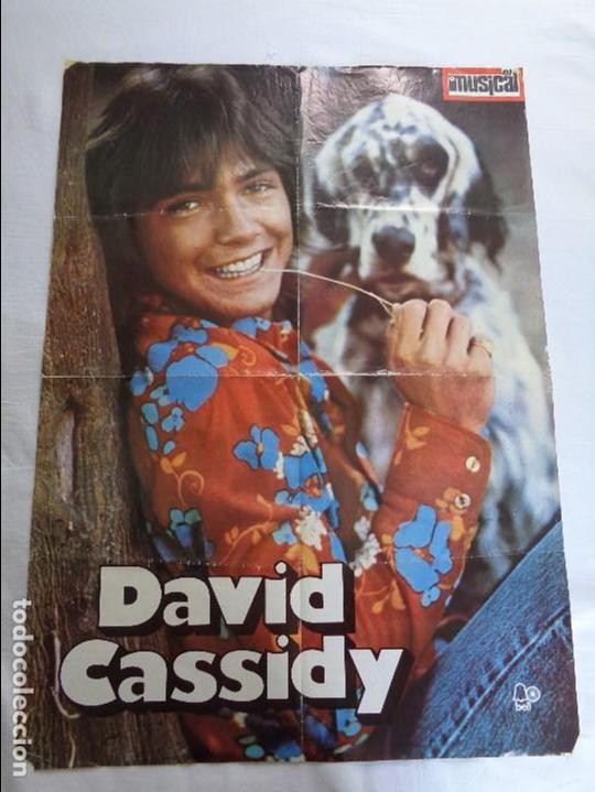 poster gigante de david cassidy 1973 el gran musical 61x84 cm detras nino bravo y otros cantantes