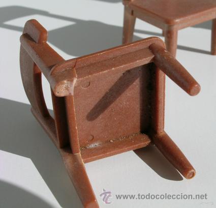 3 sillas marrones de famobil  ao 1974 1 sil  Comprar