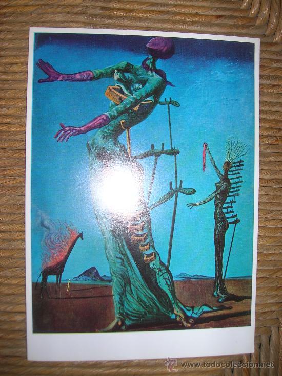 La Girafe En Feu : girafe, Salvador, Dalí, Girafe, Postcards, Todocoleccion, 31363804