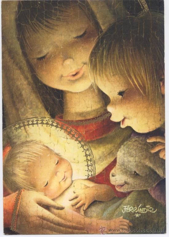 Felicitacion Navidad Ferrandiz 1962 Grande Comprar