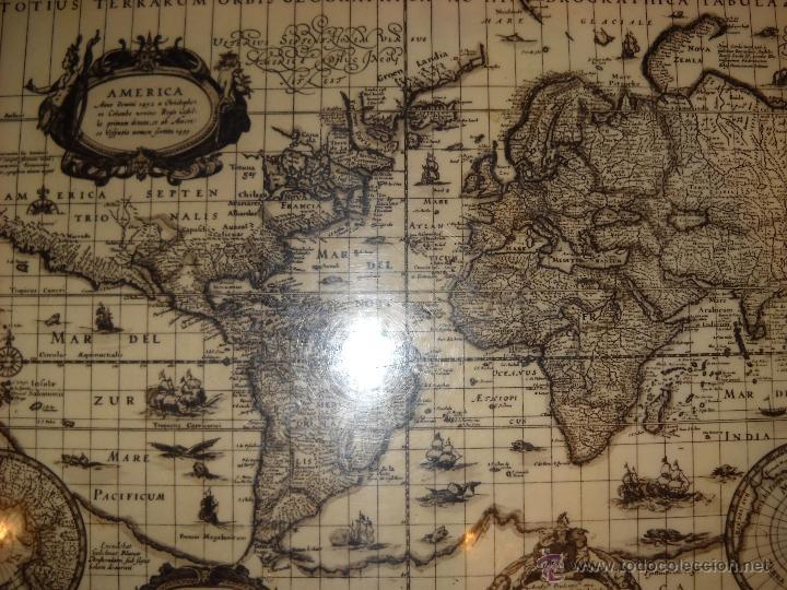 madera con mapamundi antiguo  Comprar en todocoleccion