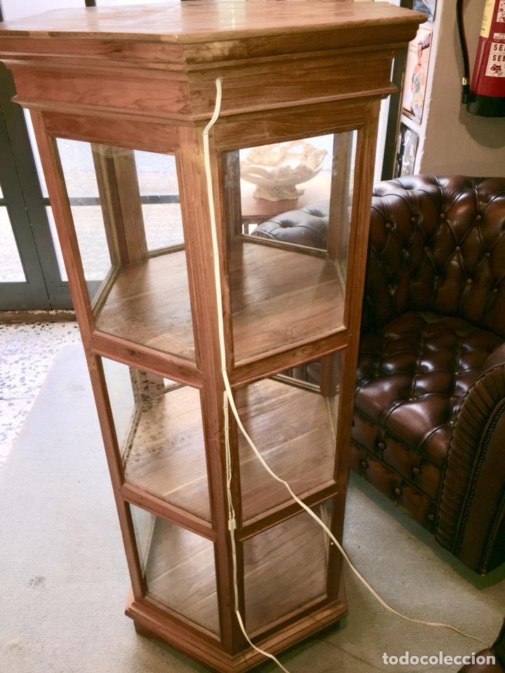 vitrina hexagonal madera  Comprar Muebles vintage en
