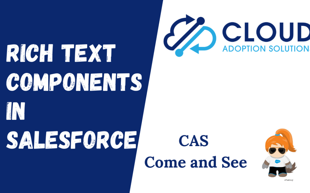 Rich Text Components improve Salesforce User Adoption: CAS Come and See Video
