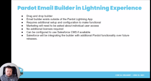 Pardot Email Builder