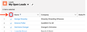 Select Multiples on Salesforce List View