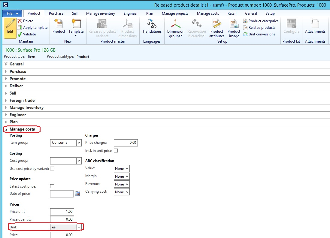 Quantities In Purchase Order And Inventory Transaction