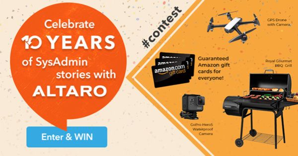 Happy #SysAdminDay & WIN with Altaro VM Backup today!