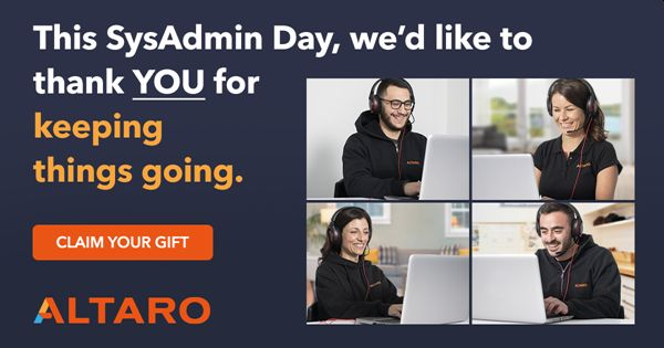 This SysAdmin Day, WIN with Altaro!