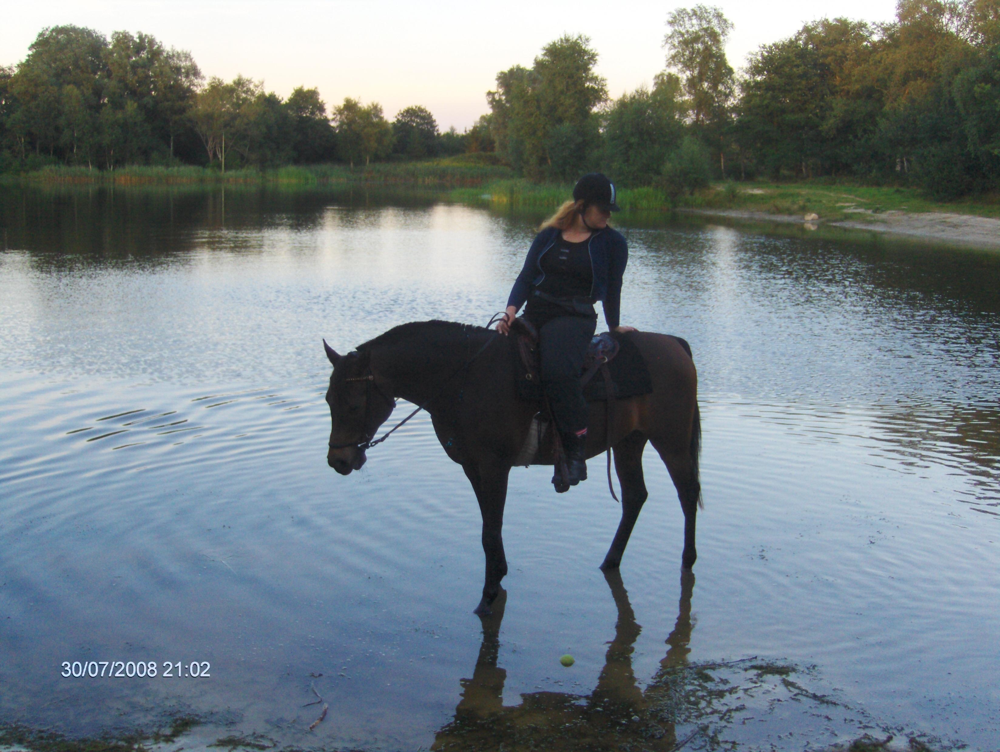 Paardrijden Aafke en Marjanca groot30 juli 2008 045