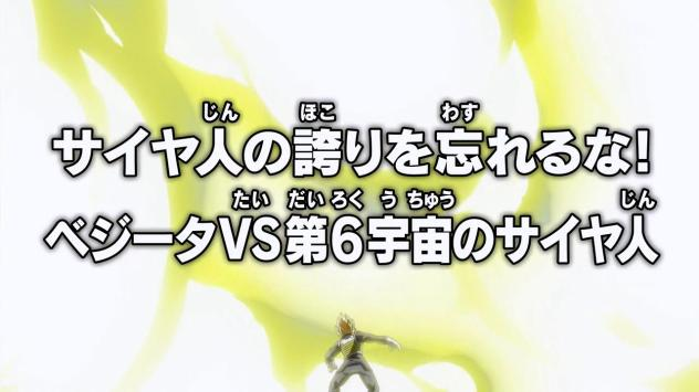 """Don't forget your Saiyan Pride. Vegeta vs. the Saiyan of Universe 6!"""