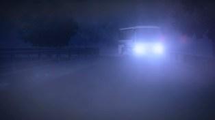 Through the mist, across the bridge.
