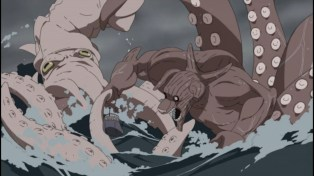 Naruto Shippuden 243 - Squid v Eight Tails