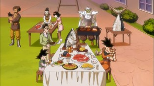 A standard Dragon Ball dinner.