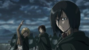 Mikasa heard something.