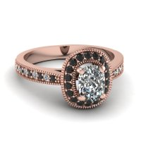 15 Black Diamond Engagement Ring Designs - Fascinating ...