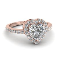 Heart Halo Ring | Fascinating Diamonds