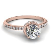 Rose Gold Rings: Rose Gold Rings With Diamonds Engagement