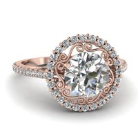 Micropave Halo Ring