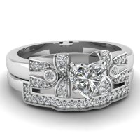 Latest Designs Of Heart Shaped Wedding Sets | Fascinating ...