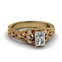 Large Selection Of Yellow Gold Vintage Engagement Rings