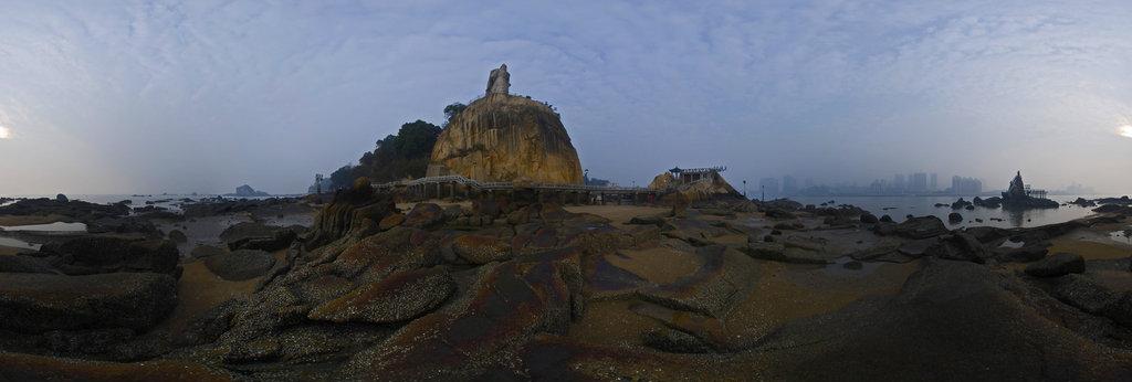 Xiamen Gulangyu Stone Statue Of Zheng Chenggong 360 Panorama