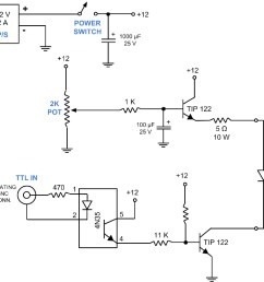circuit diagram for an led control unit a simple and inexpensive circuit for light delivery a super bright led 475 nm is attached to a heat sink and  [ 1104 x 946 Pixel ]