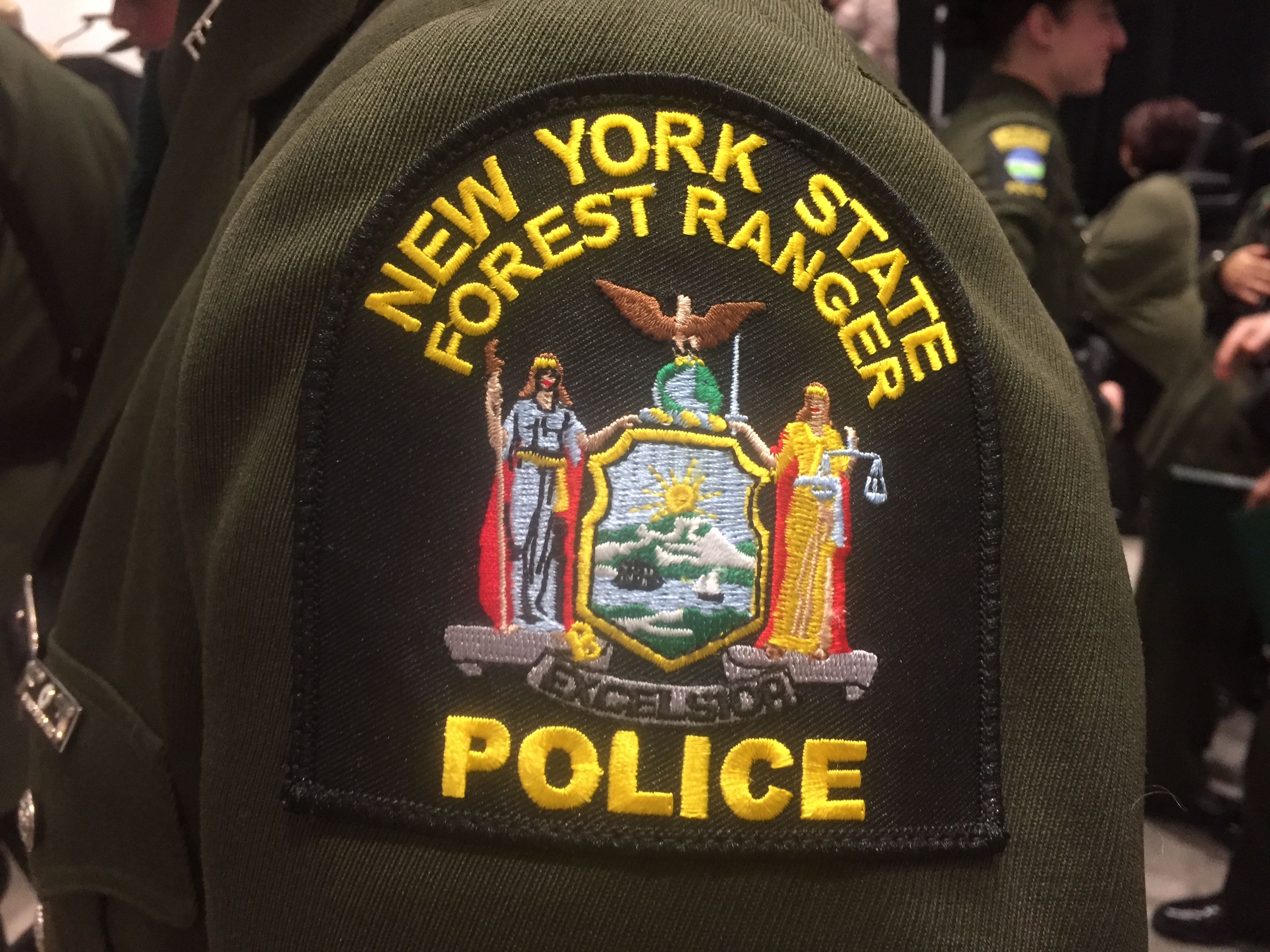 Uniform and official park ranger badge. Mt Marcy Rescue Hiker With Hip Injury Carried Down Snowy Trail By Forest Rangers And Others At Night Newyorkupstate Com