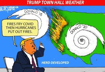 Trump town hall forecast: Darcy cartoon cleveland com