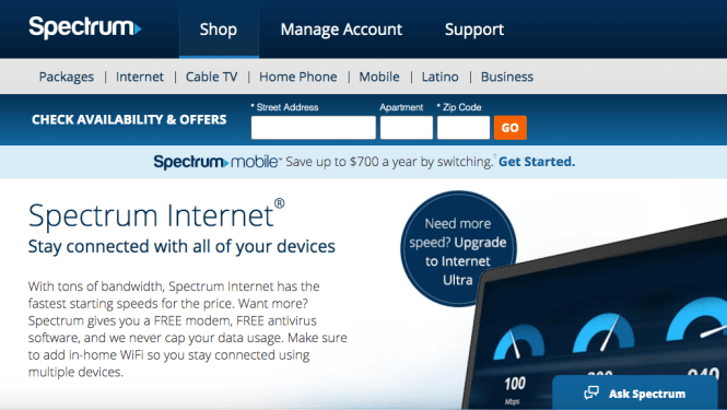 Spectrum Offers 60 Days Free Internet