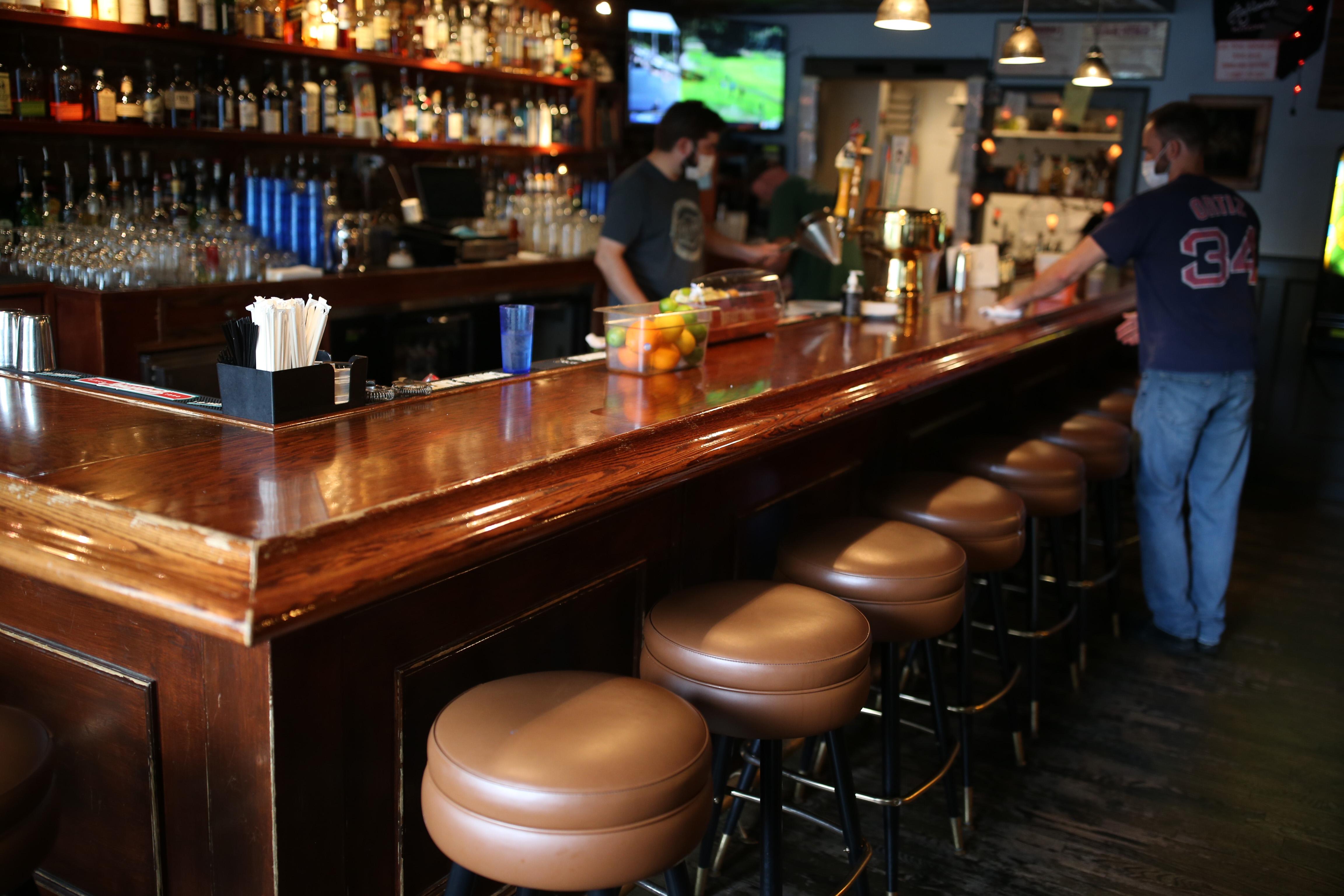 The bar at Highland Kitchen in Somerville.