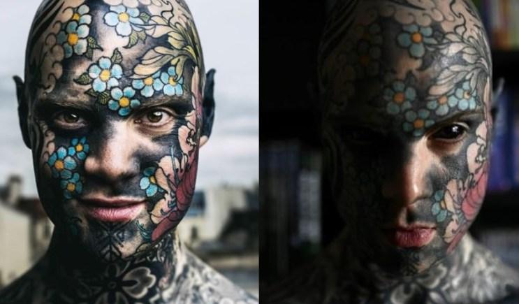 Más de 400 horas de tatuajes tiene este maestro que causa sensación en Francia.