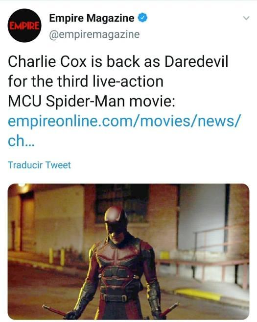 Spider-Man 3: Charlie Cox como Daredevil, el nuevo personaje que ronda la  cinta | La República