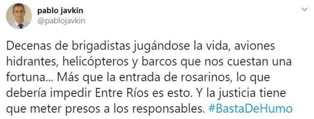 El mensaje del intendente de Rosario