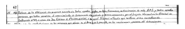 Autorización para que los espías declararan en el Caso Nisman.