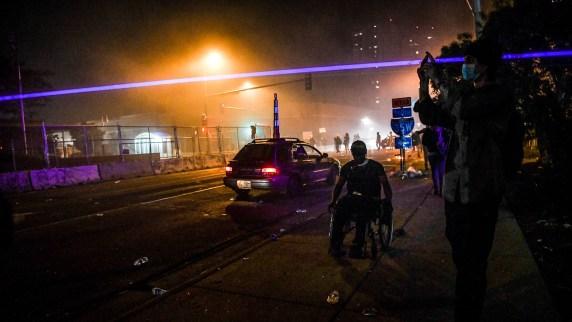 Imagen de las protestas en Minneapolis, Minnesota (Chandan KHANNA / AFP)