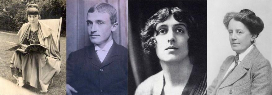 Katherine Mansfield, Logan Pearsall Smith, Vita Sackville West y Ethel Smyth