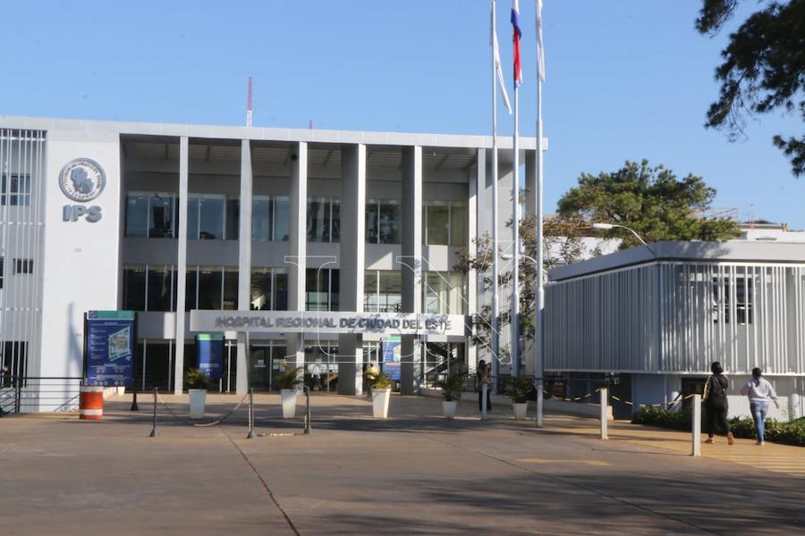 Hospital Respiratorio Integrado IPS/MSP de Ciudad del Este, donde se concentran los internados por COVID-19. Foto: Archivo