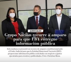 La Nación / Grupo Nación recurre a amparo para que EBY entregue información pública