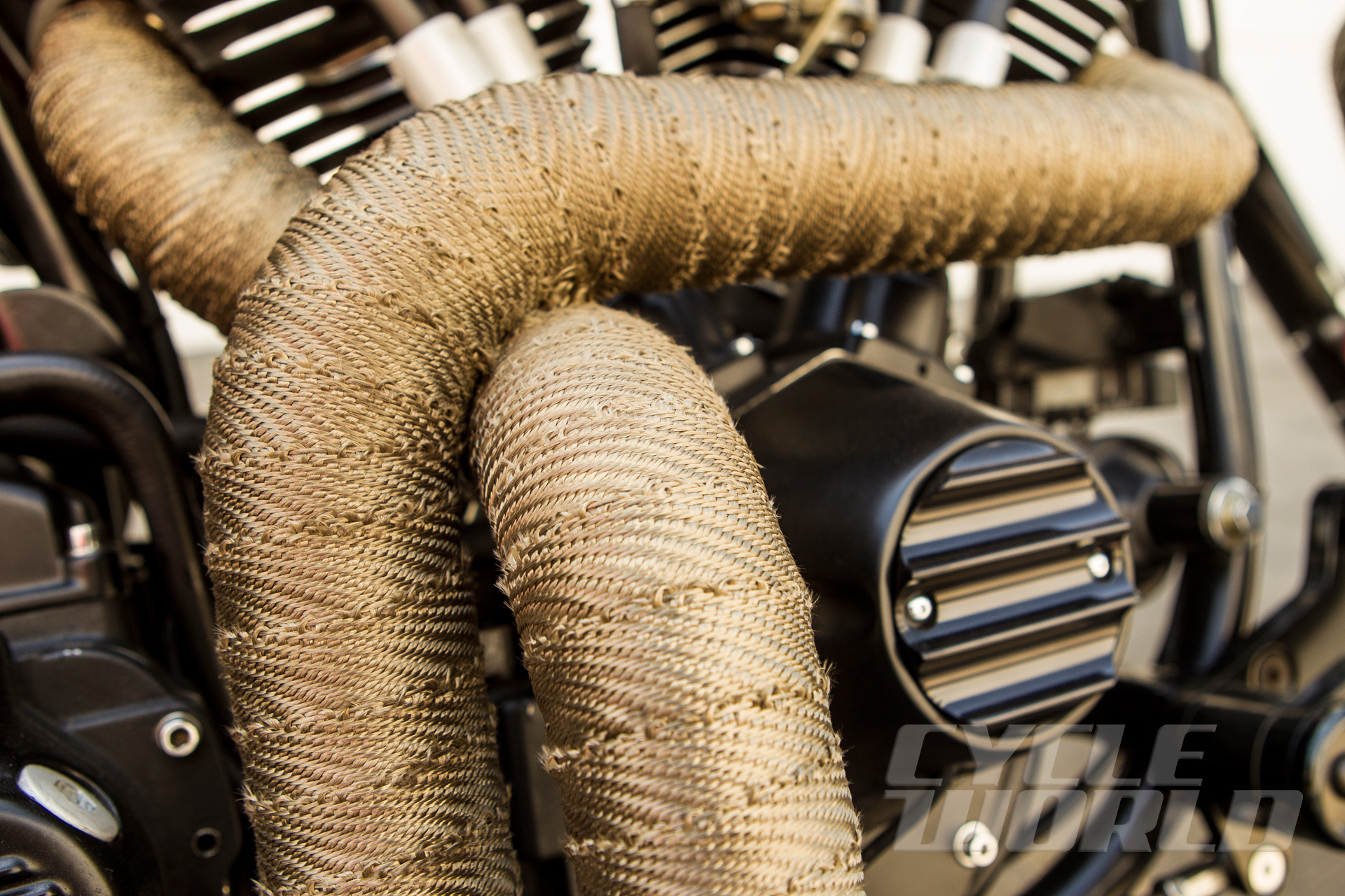 should i use motorcycle exhaust wrap