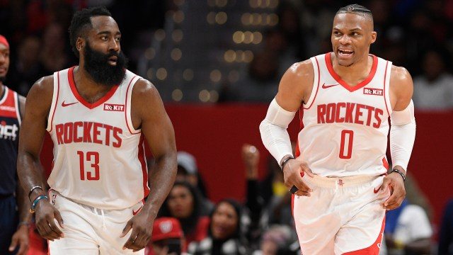 James Harden, Russell Westbrook don't travel with Houston Rockets to Florida